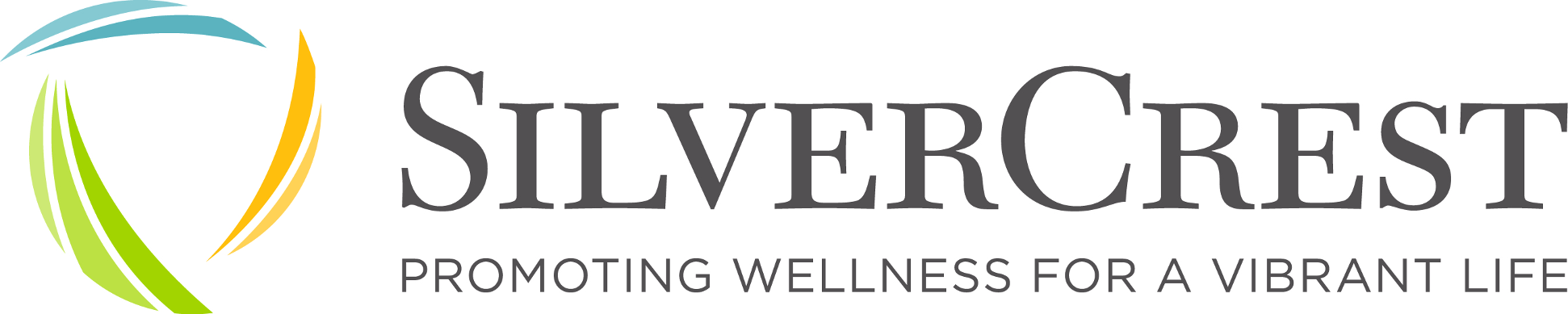 SilverCrest Properties Logo Promoting Wellness for a Vibrant Life