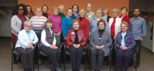 Group photo of Stepping On Leaders trained in February, 2017 at St. Stephen Lutheran Church in Bloomington.